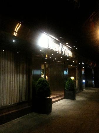 Izan Avenue Louise: Eingang bei Nacht
