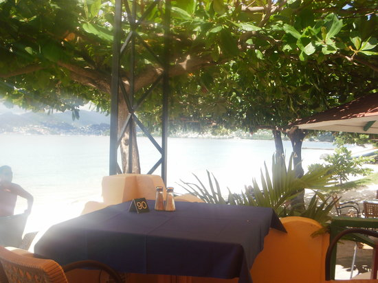 The Owl @ Flamboyant Hotel: from the beach bar across Grand Anse