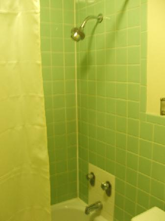 Super 8 Meadow Wood Courtyard : Shower head a little low and the curtain rod ha to go!