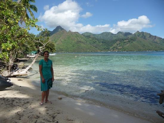 Papeete, Polinesia Francesa: Playa paradisiaca