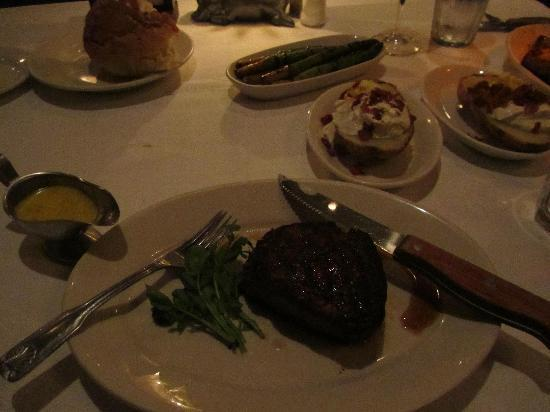 Morton's, The Steakhouse: $125 flavorless steak, bland asparagus, great baked potato