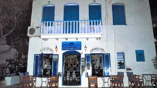 Katapola, Greece: Bar le Grand Bleu by night...