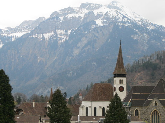 Bernese Oberland, Switzerland: A church in interlaken