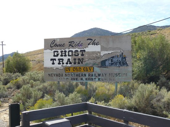 Nevada Northern Railway Museum: Advertisement on Route 50