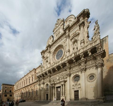 Lecce, Italie : chiesa di santa croce