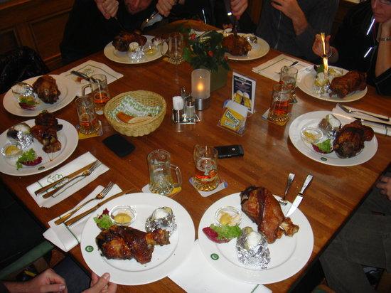 Braustuberl Forst : Il nostro pranzo!