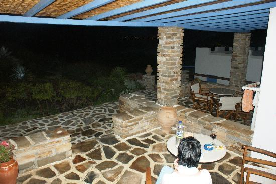 Villa Marandi Luxury Suites: unser Balkon mit Meersicht