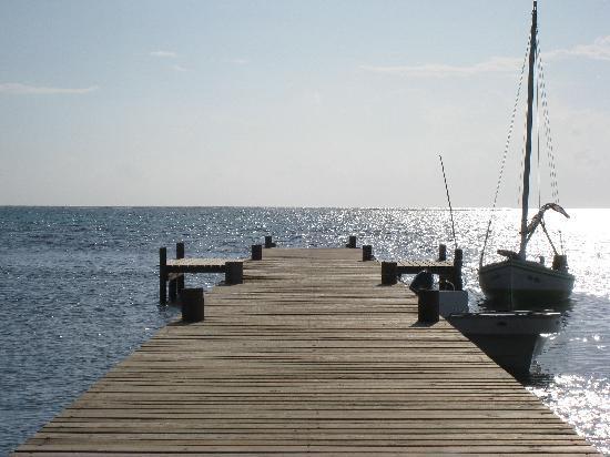 Caye Casa: the pier