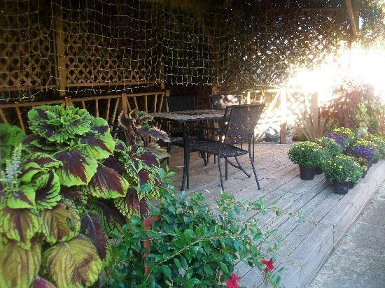 Cincinnati's Weller Haus Bed and Breakfast: Covered deck with seating