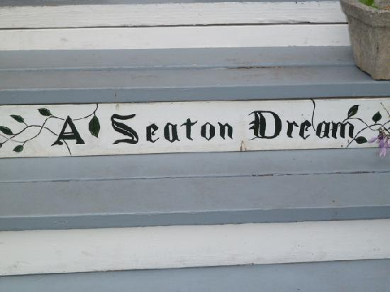 A Seaton Dream B & B: There is no sign out front so look for this on the front step