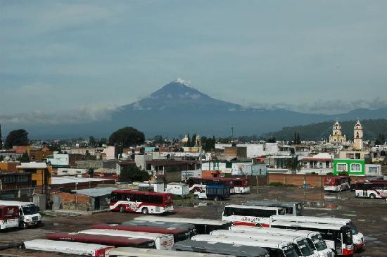 La Quinta Luna : Blick vom Hoteldach zu Popocatépetl
