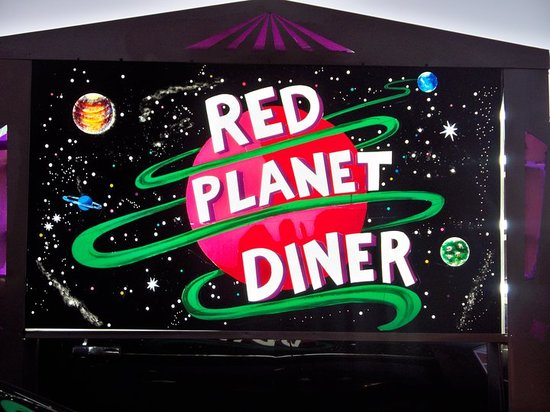 Red Planet Diner: the sign out front