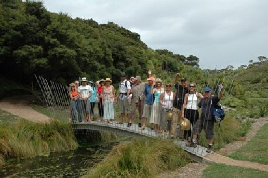Pulau Waiheke, Selandia Baru: Virginia King sculpture bridge