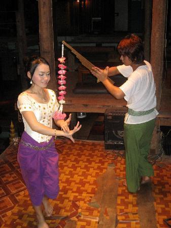 Dead Fish Cafe: Apsara dancers at Dead Fish Tower