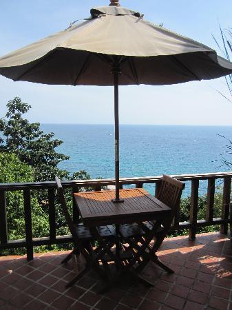 Thipwimarn Resort: la terrasse de notre chambre