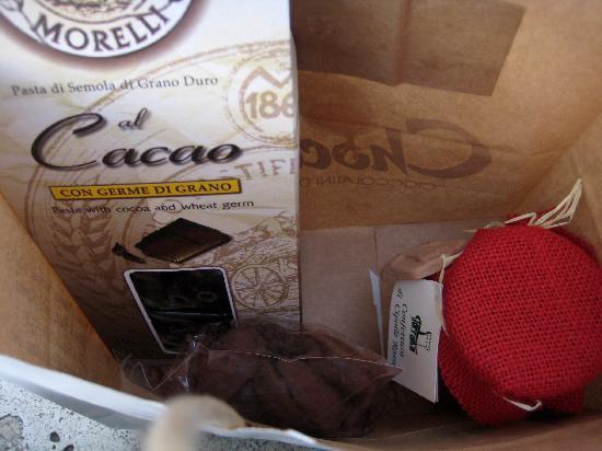 Chocolat-Cioccolatini d' autore: Pasta, tartufi e confettura