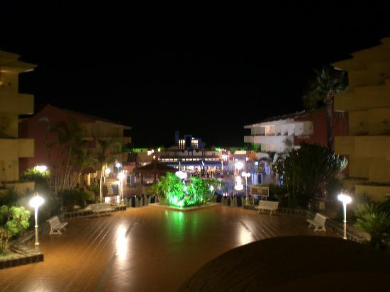 Marino Tenerife: View from balcony at night