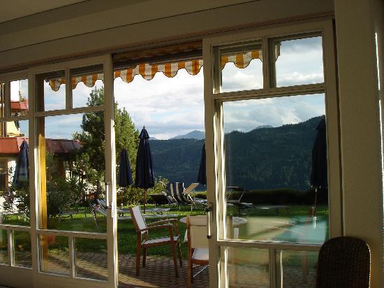 Hotel Alexanderhof: Le vetrate della piscina coperta