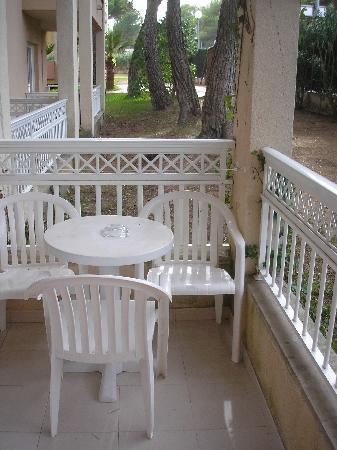 Aparthotel Green Garden: Balkon