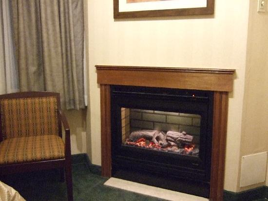 River Road Fireside Hotel: Fireplace, with a 30 min timer