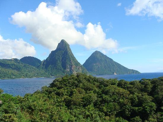 Jade Mountain Resort: View of the Pitons from JA3