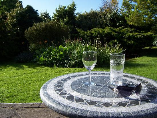 Tyn Rhos Country House: Drinks on the outdoor terrace