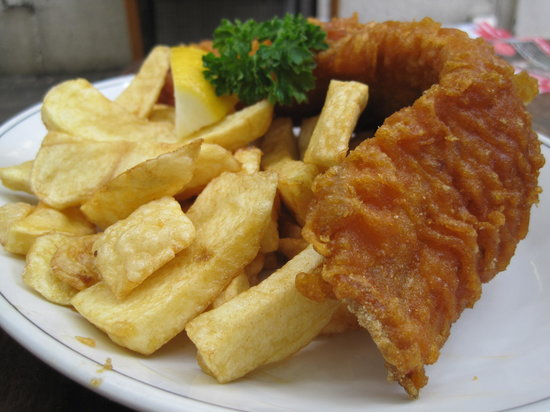 Rock & Sole Plaice: Cod Fish and Chips: looks better than it tastes