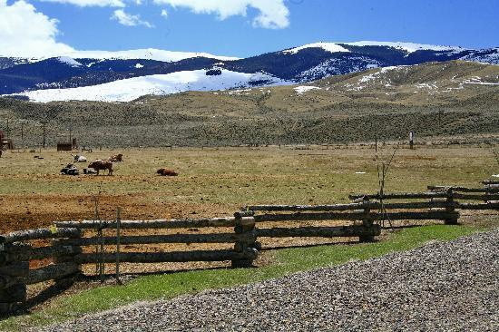 The Longhorn Ranch Lodge & RV Resort: Views overlooking Whisky Mtn to the South