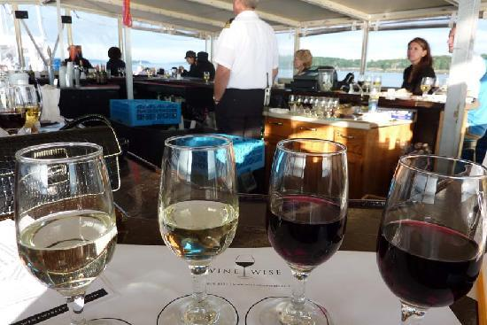 Wine Wise Events: Wine Tasting Cruise - Outside on Deck