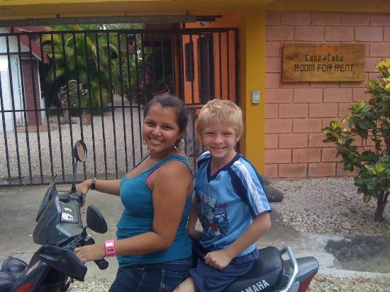 friend returning my son back to Casa Coba