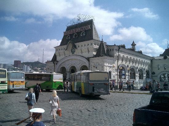 Vladivostok, Russia: 駅です。シベリア鉄道に1区間試乗しました。