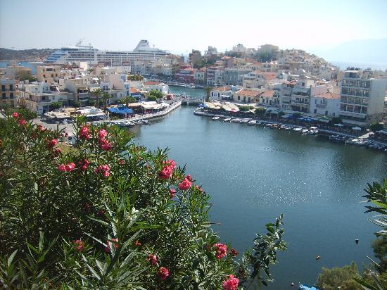 Agios Nikolaos, Grèce : Süsswassersee von oben