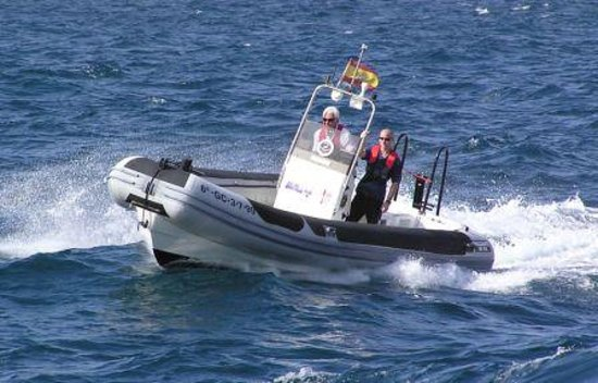 Lanzarote Powerboat Services : Boat used for course