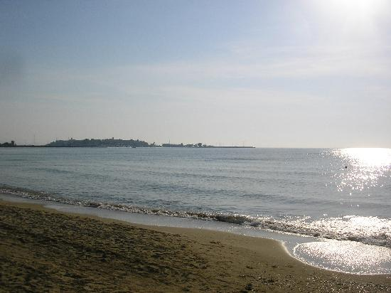 Sentido Bilyana Beach: Looking north to Old Nessebar