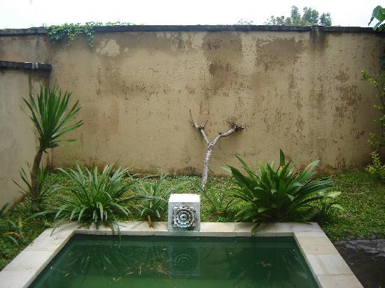 Mimosa Jimbaran Bali Villa: murs décrépis