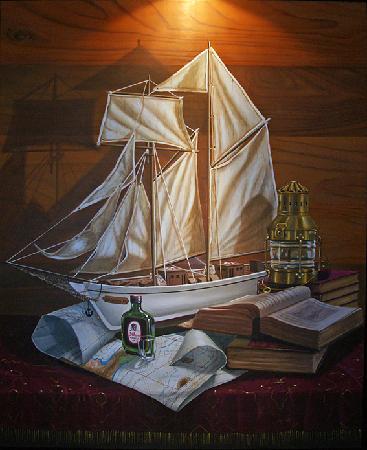 Demeure Loredana : Un des tableaux par le propriétaire