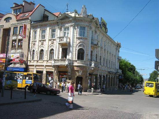 Corner Halytska St. Dnistrovska St. Ivano-Frankivsk, Ukraine