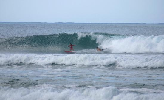 Surfing Sandy Beach, Rincon