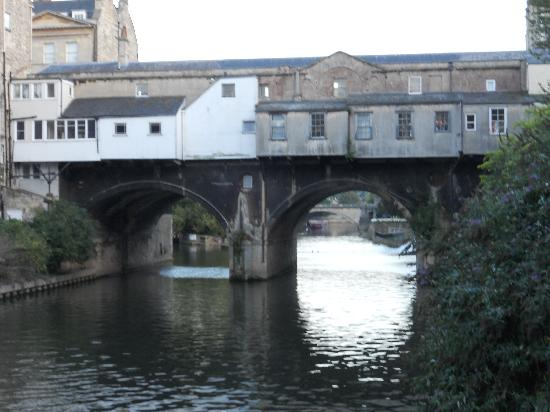Hilton Bath City: View from the restaurant along the river