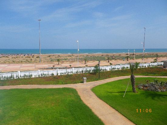 Iberostar Saidia : la plage vue des hauteurs de l'hôtel