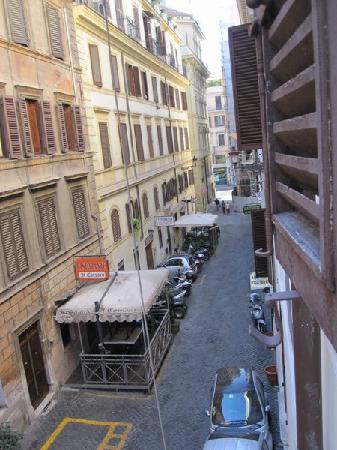 Hotel Boccaccio: View to the right from the window