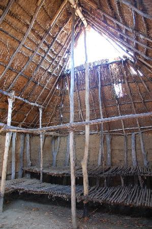 ‪‪SunWatch Indian Village/Archaeological Park‬: Inside one of the huts.‬