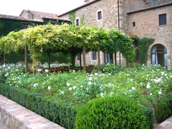 Castello Banfi - Il Borgo: Rose Garden outside room #19