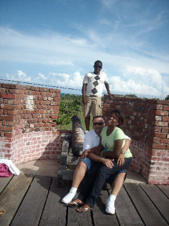 Me, Antoniette and her brother Shawni at Port Royal