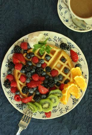 Noble Inns - The Jackson House: Waffles at Jackson House