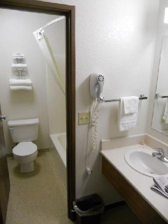 Super 8 Missoula/Reserve St.: Sink and bathroom
