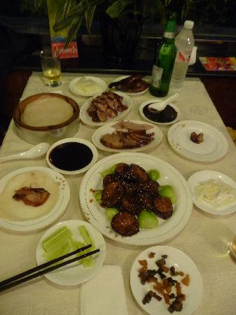 BeiJing XiangManLou Restaurant (XinYuan): Peking duck and yummy eggplants