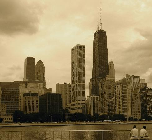 Chicago, IL: View of JHC from Navy Pier