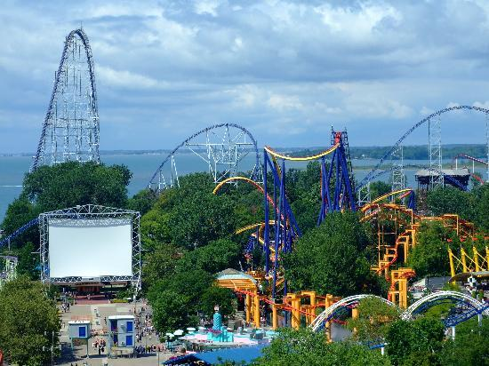 Cedar Point Amusement Park: Cedar Point desde la Noria