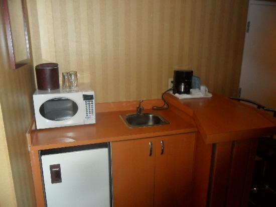 Executive Airport Plaza Hotel & Conference Centre Richmond: Kitchenette - minifridge plus microwave